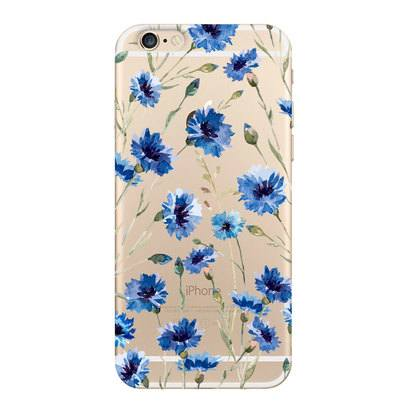 "Чехол для iPhone 6/6s Deppa Flowers ""Василек"" -"