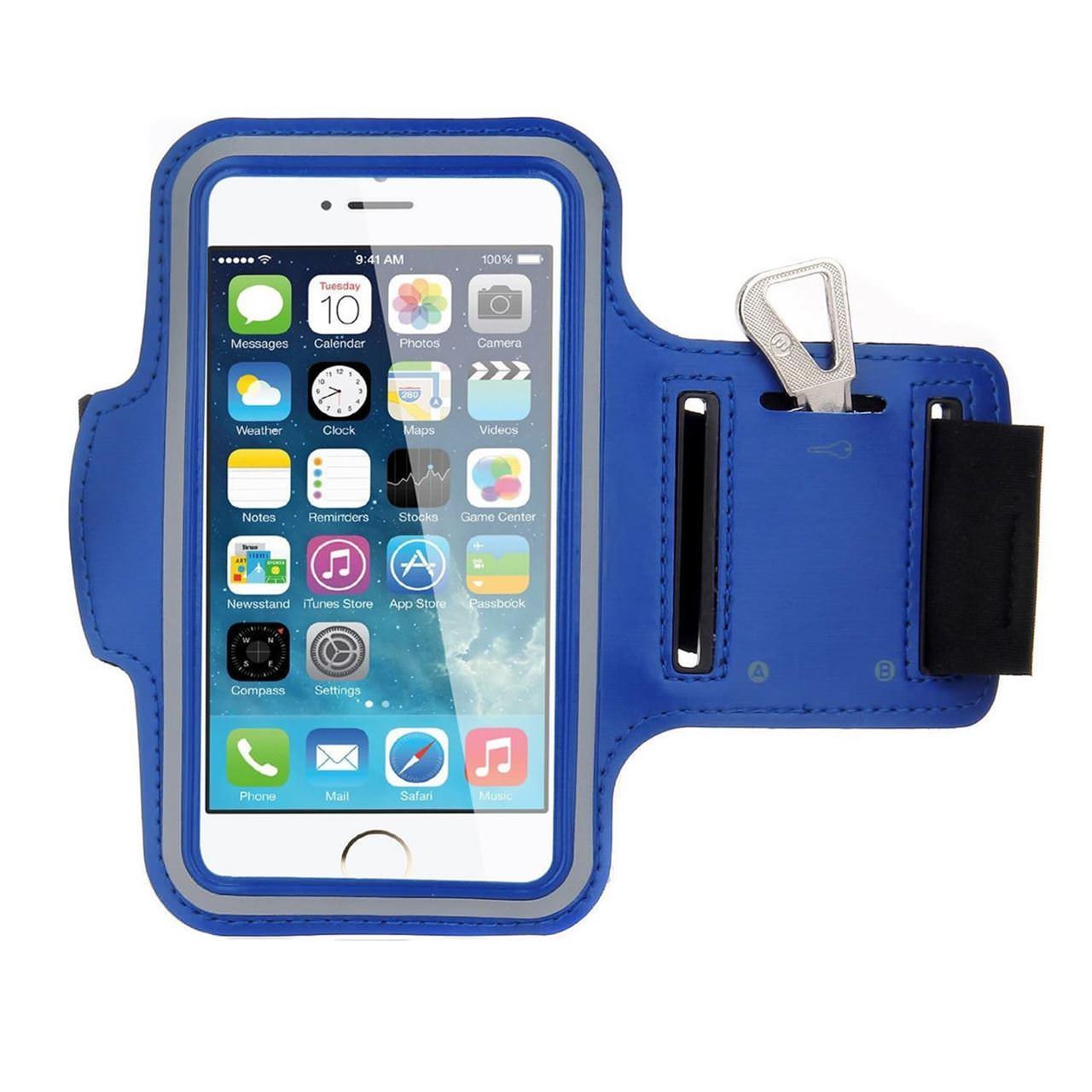 Купить Синий спортивный чехол на руку для iPhone 5, 5, Комбинированный
