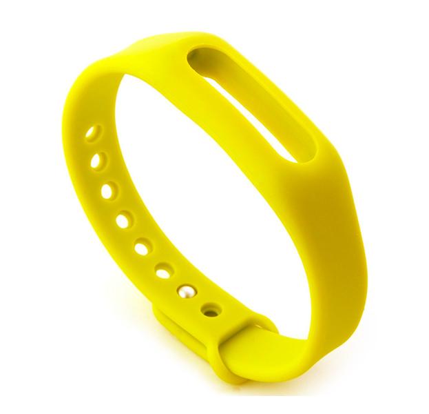 Купить Цветной ремешок для браслета Xiaomi Mi Band (Желтый), Силикон