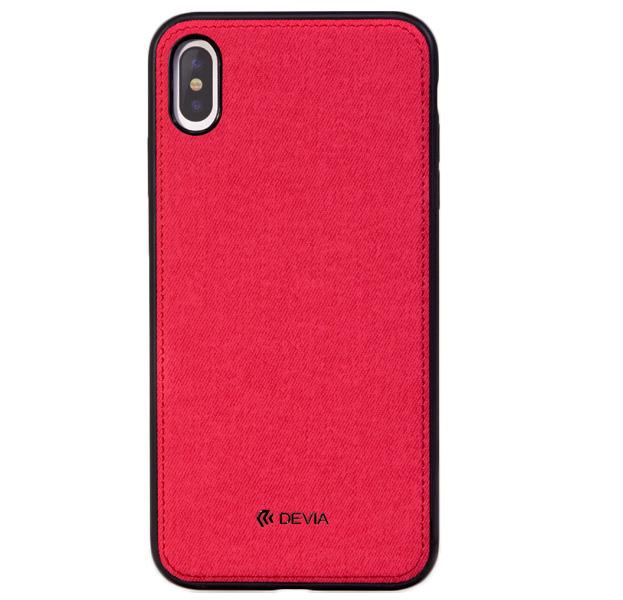 Купить Чехол-накладка для iPhone XS Max Devia Nature Series Case Red, Красный, Полиуретан