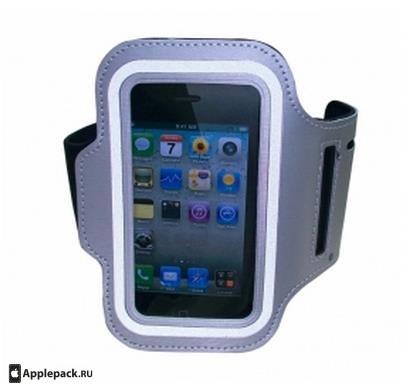 Купить Серый спортивный чехол на руку для iPhone 5, Комбинированный