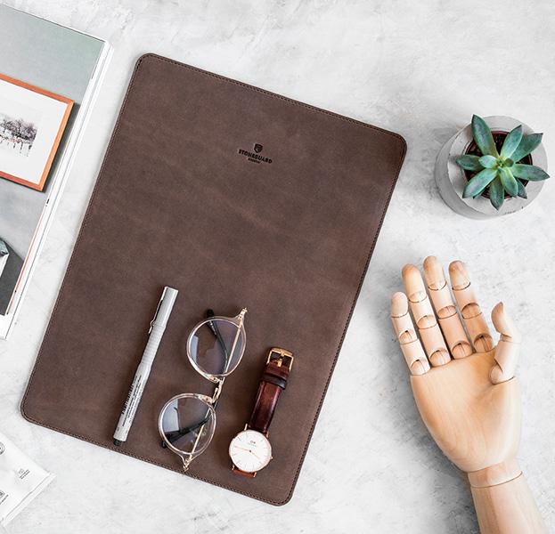 Купить Кожаный чехол для Macbook Pro 15 2016/2017 Stoneguard Rust, Коричневый