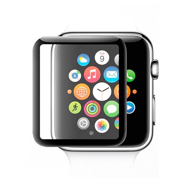 Купить Черное защитное стекло для Apple Watch 42mm COTEetCL 4D glass Screen Protector