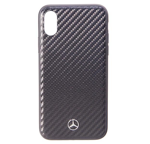 Купить Черный чехол для iPhone X/XS Mercedes-Benz Dynamic Carbon, Пластик