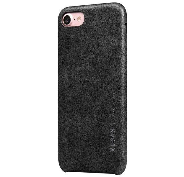 Купить Серый чехол-накладка для iPhone 7/8 X-Level Vintage, Экокожа