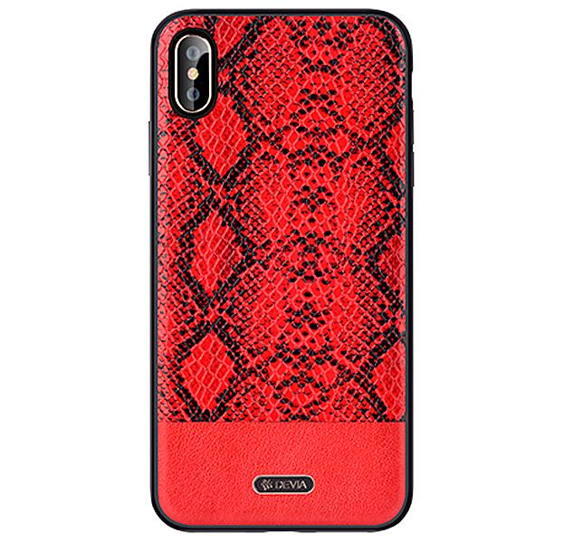 Купить Чехол-накладка для iPhone XS Max Devia Python Series Case Red, Красный, Комбинированный