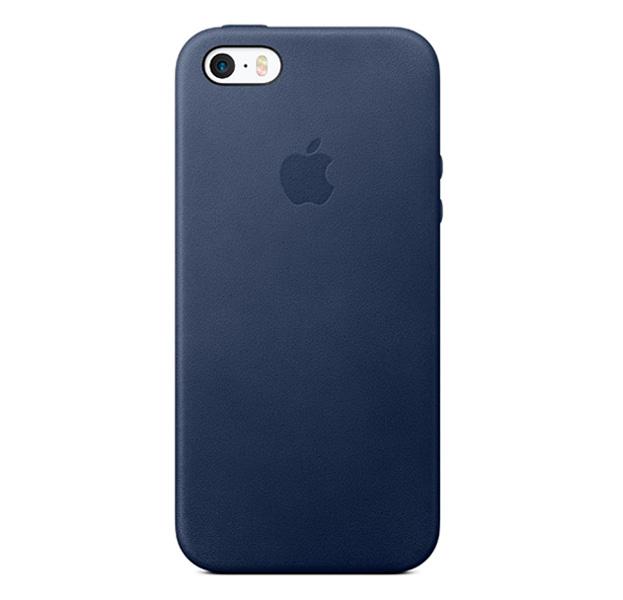 Купить Синий кожаный чехол для iPhone 5/5S/SE Leather Case, Экокожа