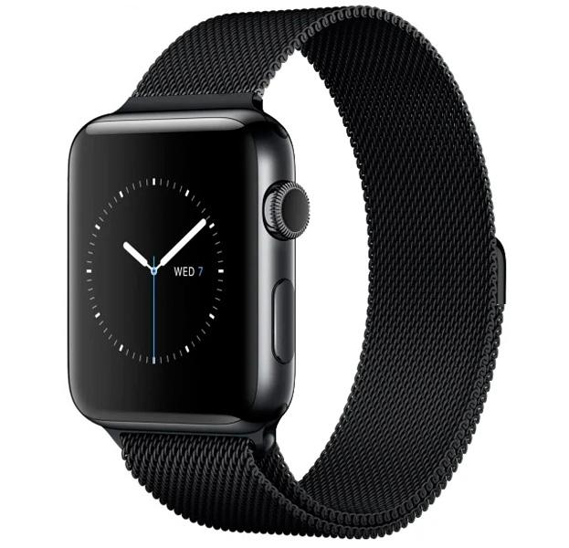 Купить Металлический ремешок Milanese Band для Apple Watch 38/40 mm черный, Сталь