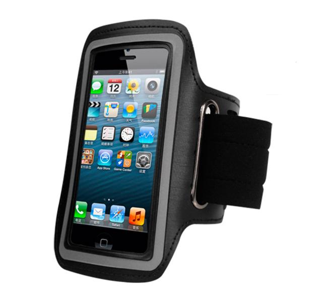 Купить Черный спортивный чехол на руку для iPhone 5, Комбинированный