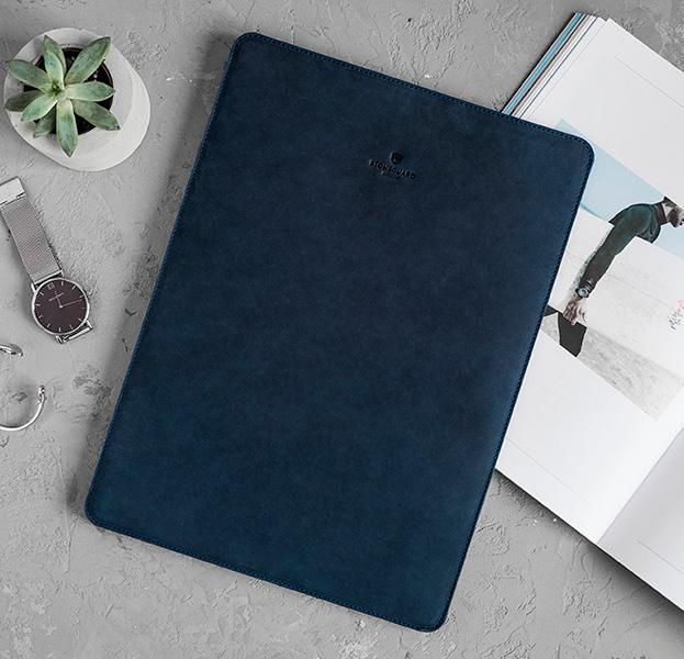 Купить Кожаный чехол для Macbook Pro 15 2016/2017 Stoneguard Ocean, Синий