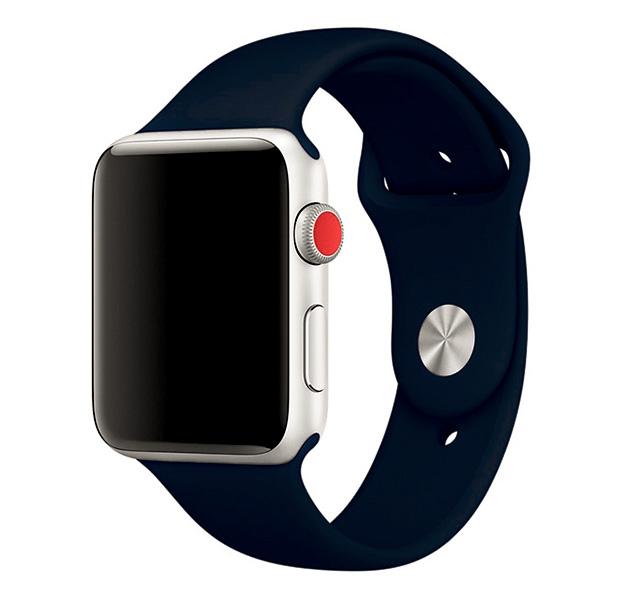 Купить Темно-синий ремешок для Apple Watch 42/44 mm Sport Band, Силикон