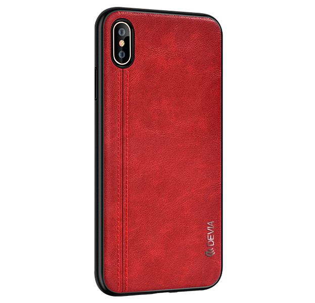 Купить Чехол-накладка для iPhone XS Max Devia City Series Case Red, Красный, Комбинированный