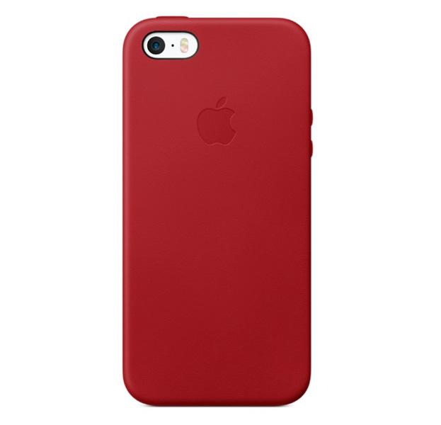 Купить Красный кожаный чехол для iPhone 5/5S/SE Leather Case, Натуральная кожа