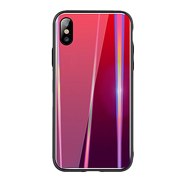 Купить Чехол-накладка для iPhone XS Max Rainbow Case Red, Красный, Полиуретан