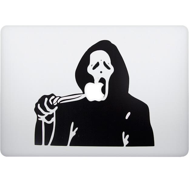 Купить Наклейка для Macbook Крик ч/б