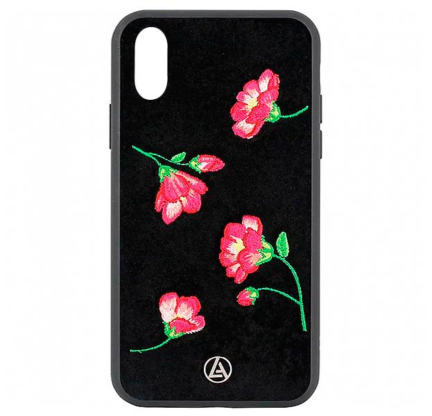 Купить Черный чехол-накладка для iPhone XS Max Luna Aristo Denise Collection, С рисунком, Текстиль