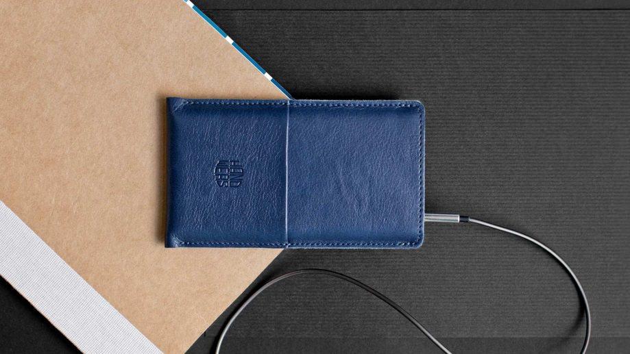 4ef1b7e080f5 Синий кожаный чехол для iPhone 5 5S SE Handwers Hike