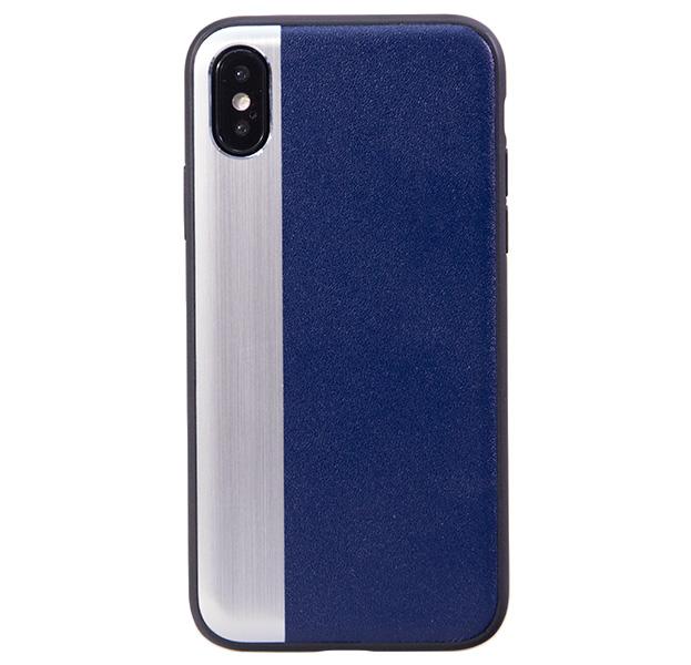 Купить Чехол-накладка для iPhone X/XS Comma Jazz Case Blue/Silver, Комбинированный, Алюминий