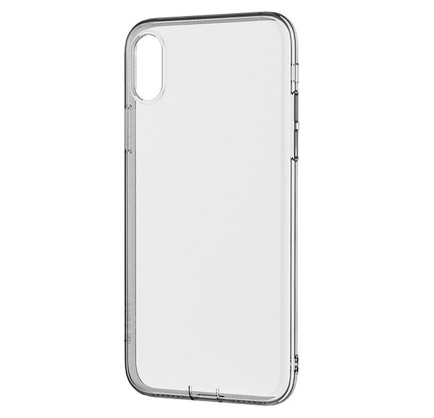 Купить Черный чехол-накладка для iPhone X/XS Devia Anti-Shock Soft Case, Прозрачный, Силикон