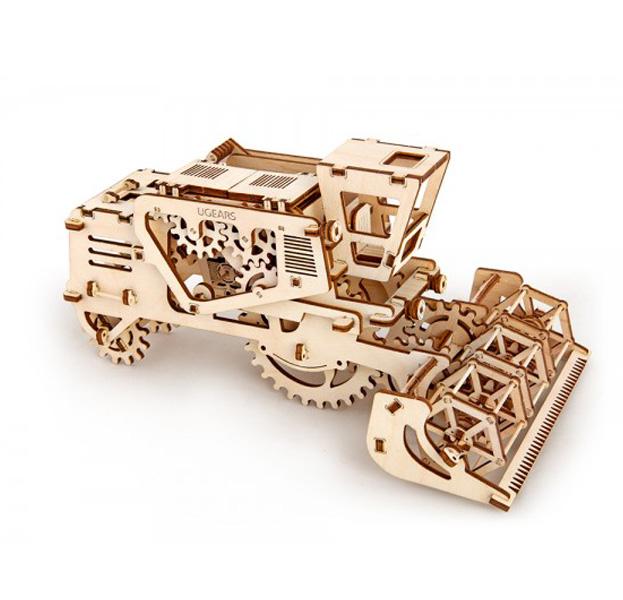 Купить Механический 3D конструктор UGears Комбайн (Combine) 70010