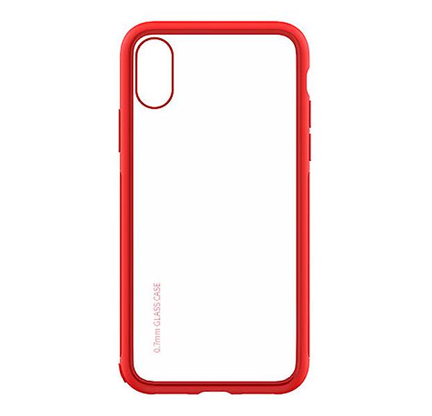 Купить Противоударный чехол-накладка для iPhone XS Max Devia Yosung Case Red, Прозрачный, Пластик
