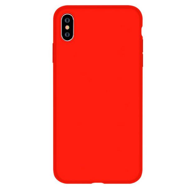Купить Силиконовый чехол-накладка для iPhone XS Max Devia Nature Silicone Case Red, Красный