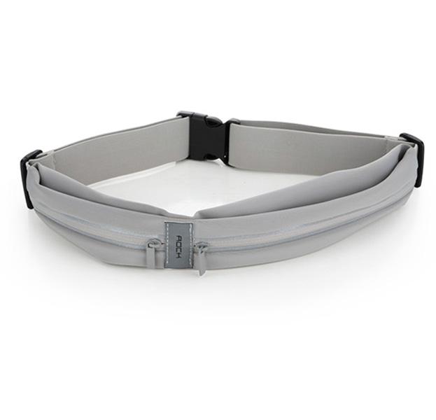 Купить Серая поясная сумка для смартфонов Rock Sports Waist Bag, Серый, Полиуретан