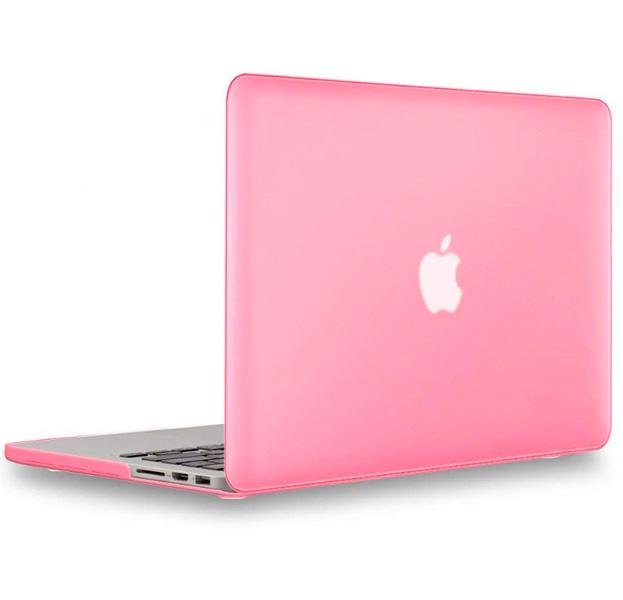 Купить Розовая пластиковая накладка для Macbook Pro 13 Retina, Розовый, Пластик