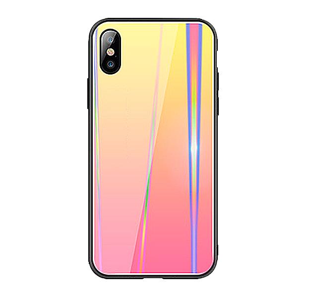 Купить Чехол-накладка для iPhone XS Max Rainbow Case Cream/Red, Комбинированный