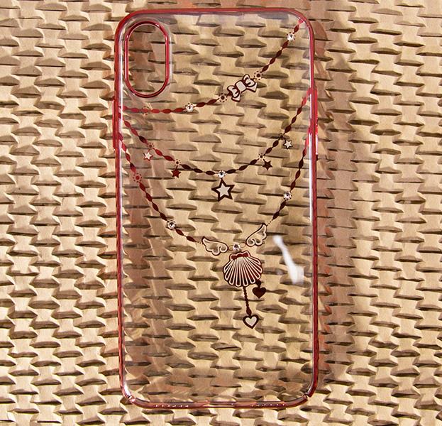 Купить Чехол-накладка для iPhone X/XS Devia Crystal Shell Red, С рисунком, Пластик
