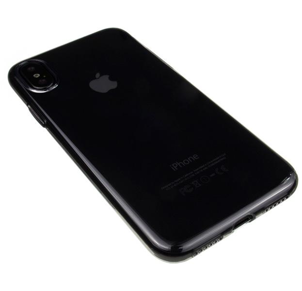 Купить Черный силиконовый чехол для iPhone X/XS Hoco Light, Прозрачный, Силикон