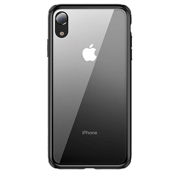 Купить Чехол-накладка для iPhone XR Baseus See-through Glass Protective Case Black, Прозрачный, Стекло